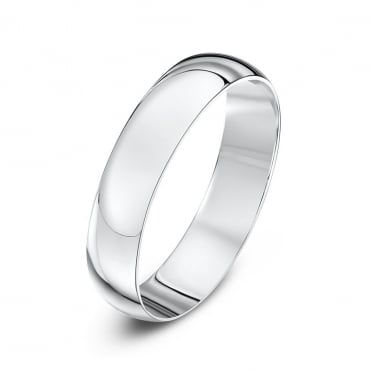 9ct White Gold 4mm Wedding Ring