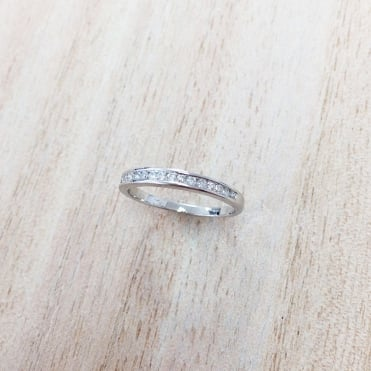 9ct White Gold Diamond Eternity Ring 0.18cts