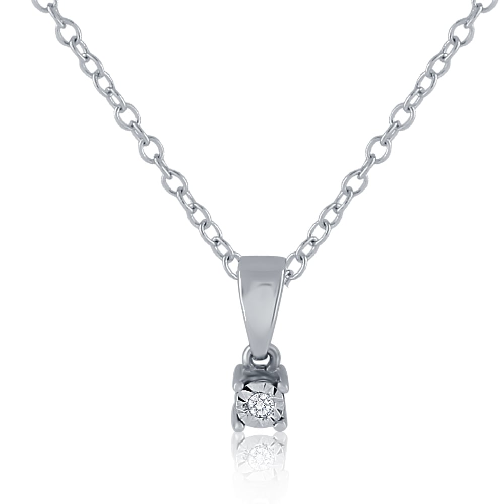 9ct white gold diamond pendant and chain pendants necklaces from 9ct white gold diamond pendant and chain aloadofball Image collections