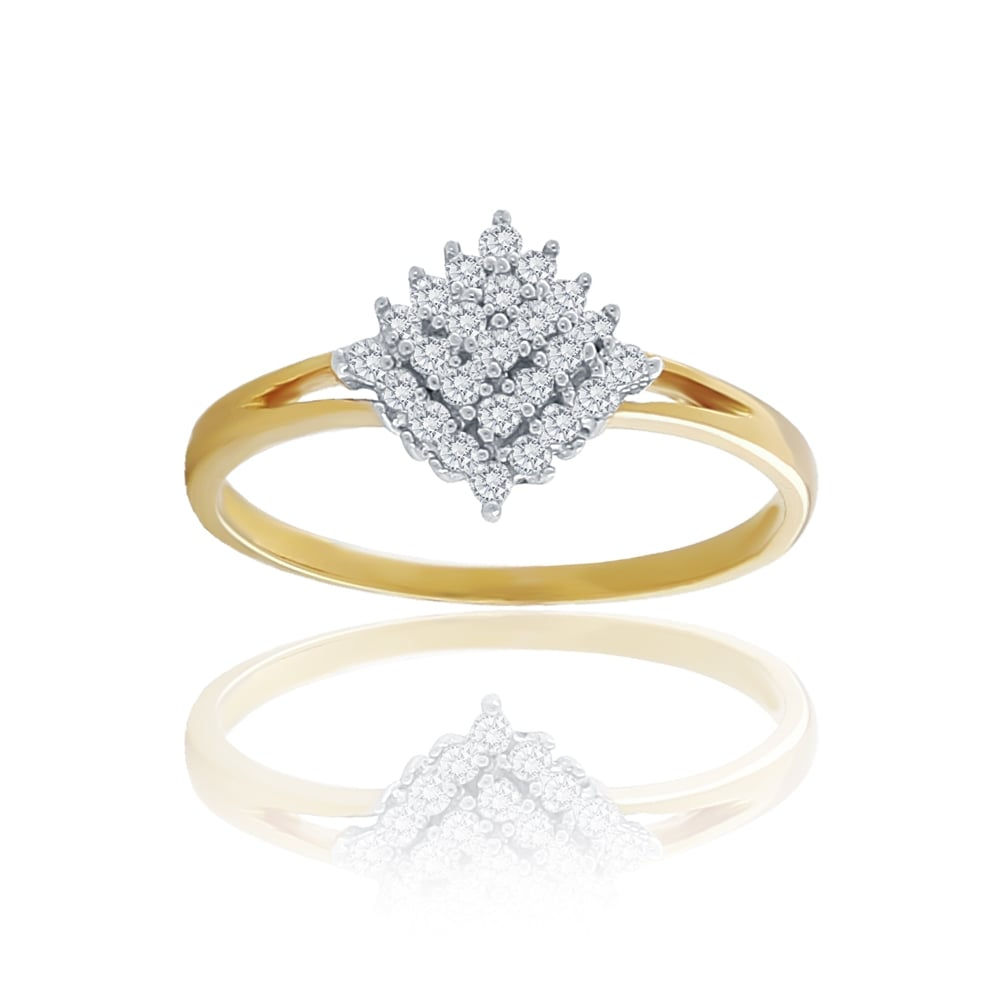 grams solid size product rings ring cluster diamond carat yellow gold