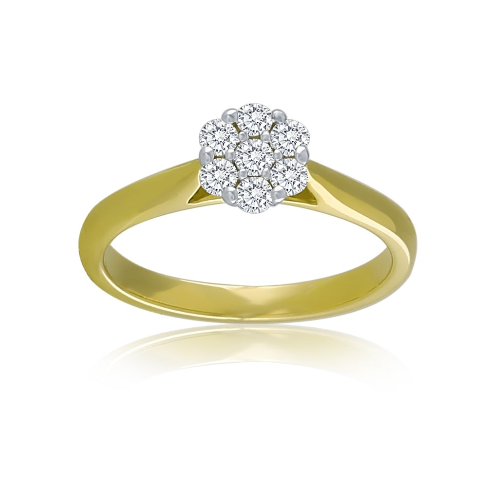 d89bfd71e 9ct Yellow Gold Diamond Daisy Cluster Ring - Rings from Jarvis ...
