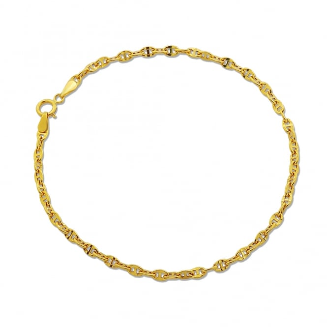 9ct Yellow Gold Gucci Link Bracelet 7 Inch