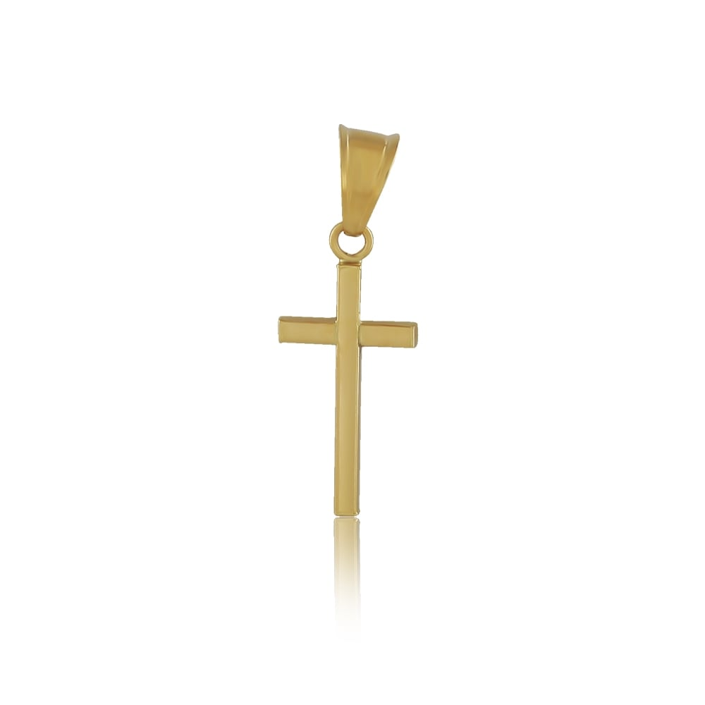 9ct yellow gold plain cross pendant and chain all jewellery from 9ct yellow gold plain cross pendant and chain aloadofball Image collections