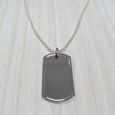 Stainless Steel Tag Pendant And Chain