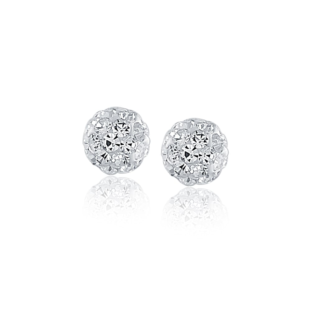 earring stud flat gold material the pin and boutique disc crystal