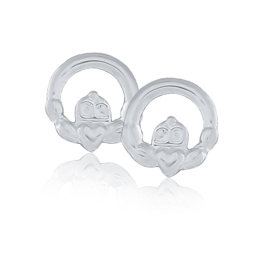 5555cb43c Sterling Silver Claddagh Stud Earrings - Earrings from Jarvis ...