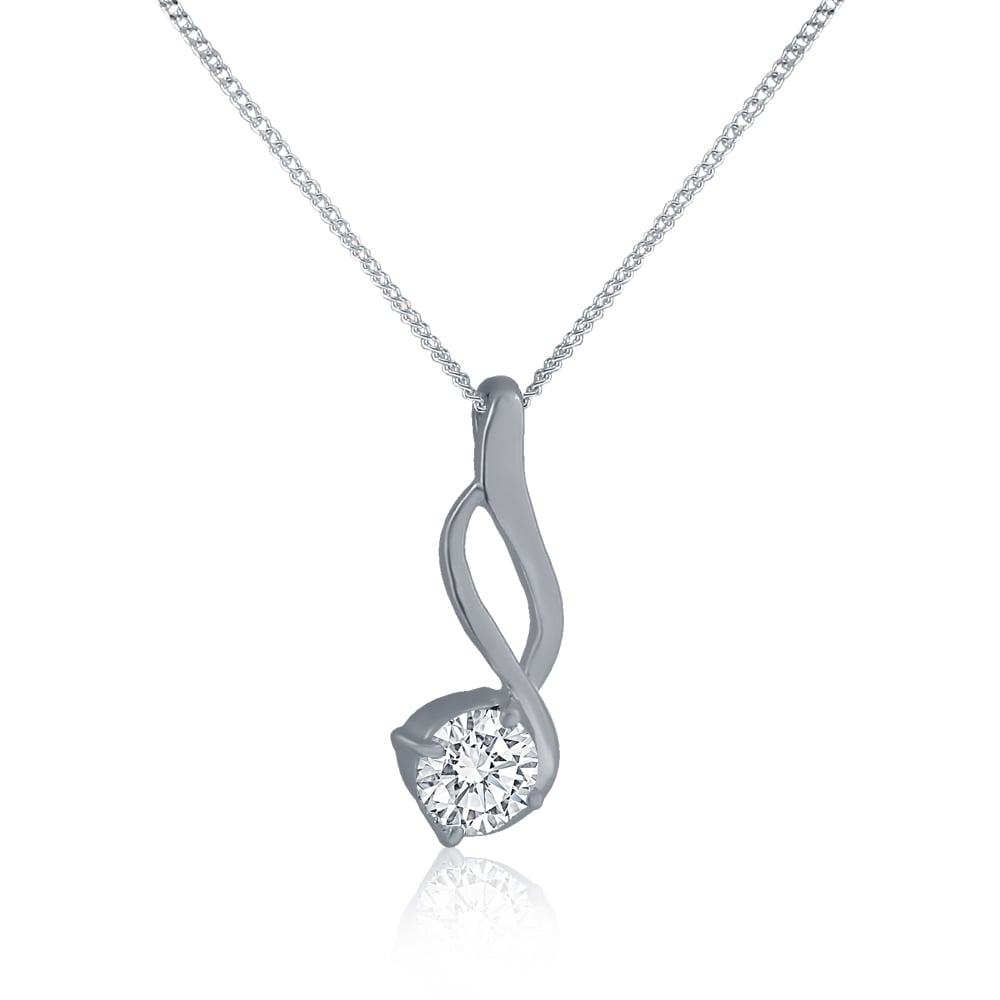 quotes delicate luxurman mainwh womens sterling love silver diamond pendant swirl