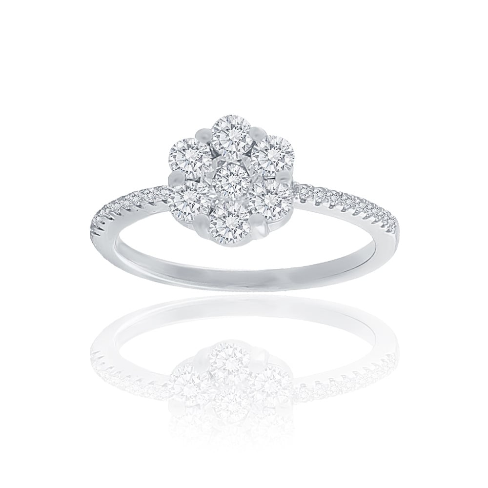 rings cluster ramsdens white image ring jewellery diamond gold