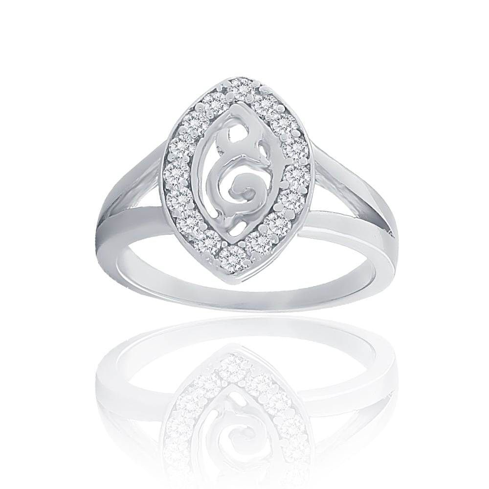 silver cz statement bling ring pave jewelry sterling infinity rings in style clear modern swirl