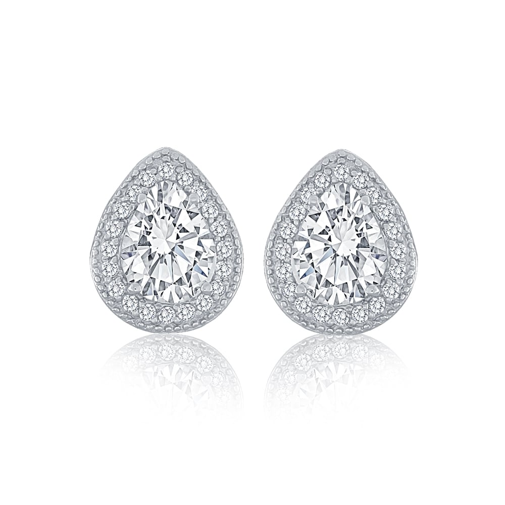 of center diamond halo universe gold my stud white earrings