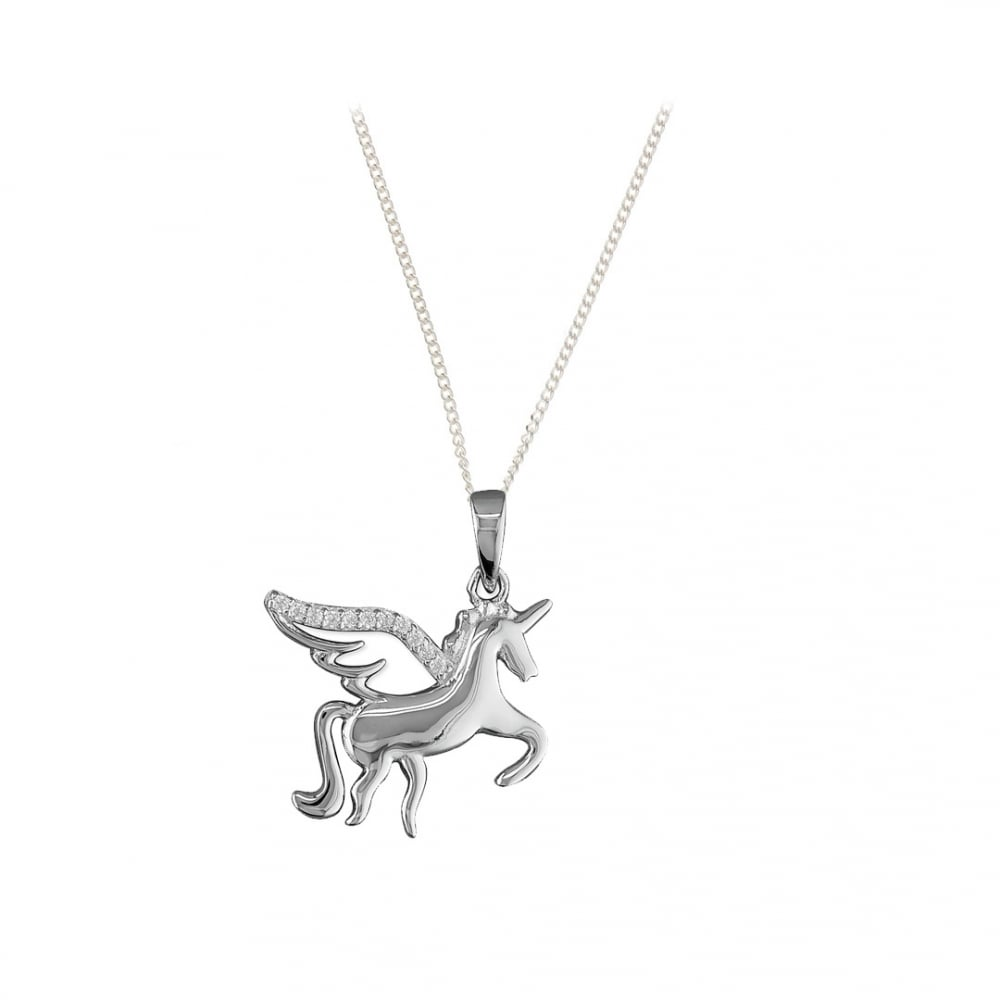 pendant crystals with unicorn crystaluxe silver in jewelry sterling magical swarovski