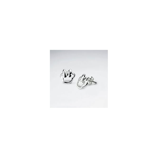 Sterling Silver Cute Stud Earrings With Bow