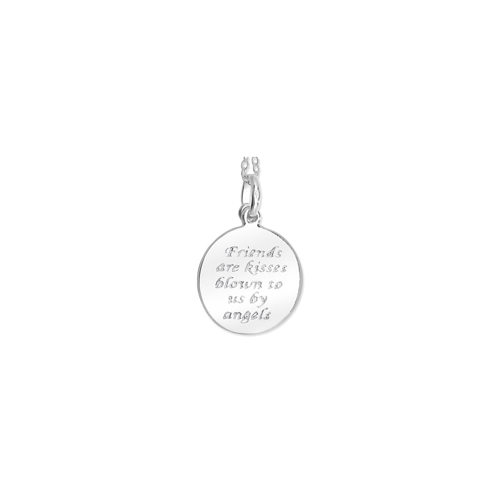Sterling silver friends angel disc pendant and chain all sterling silver friends angel disc pendant and chain mozeypictures Choice Image