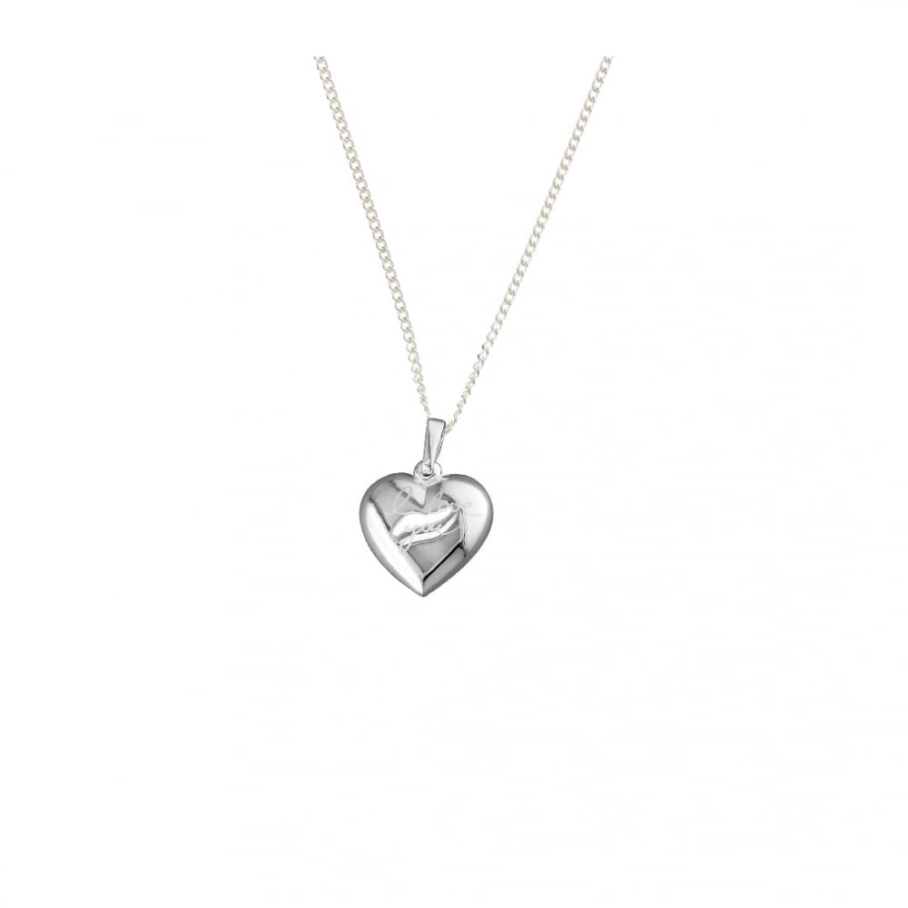 Sterling silver i love you puffed heart pendant and chain pendants sterling silver i love you puffed heart pendant and chain aloadofball Images