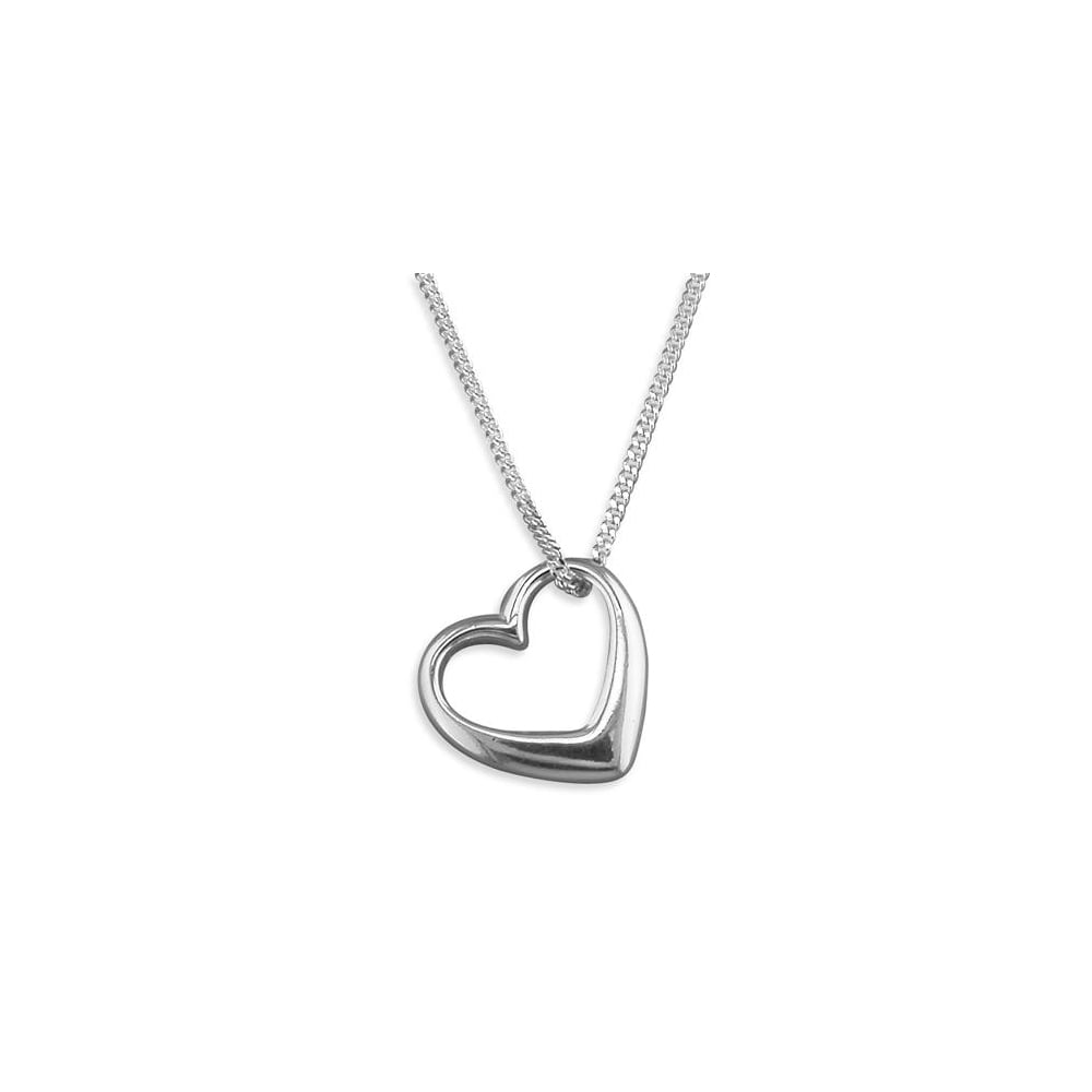 Sterling silver large polished open heart necklace pendants sterling silver large polished open heart necklace mozeypictures Choice Image
