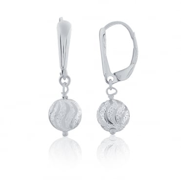 Sterling Silver Sparkle Ball Drop Earrings