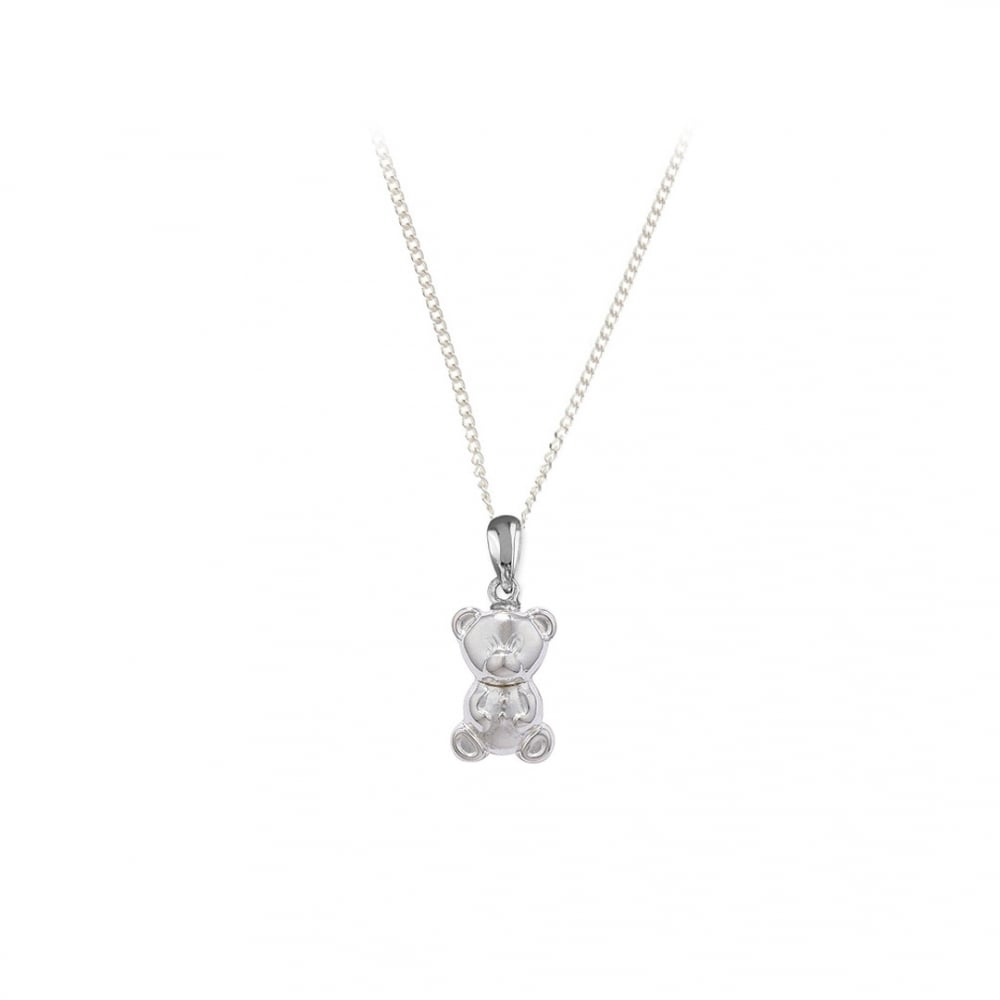 Sterling silver teddy bear pendant and chain pendants necklaces sterling silver teddy bear pendant and chain aloadofball Images