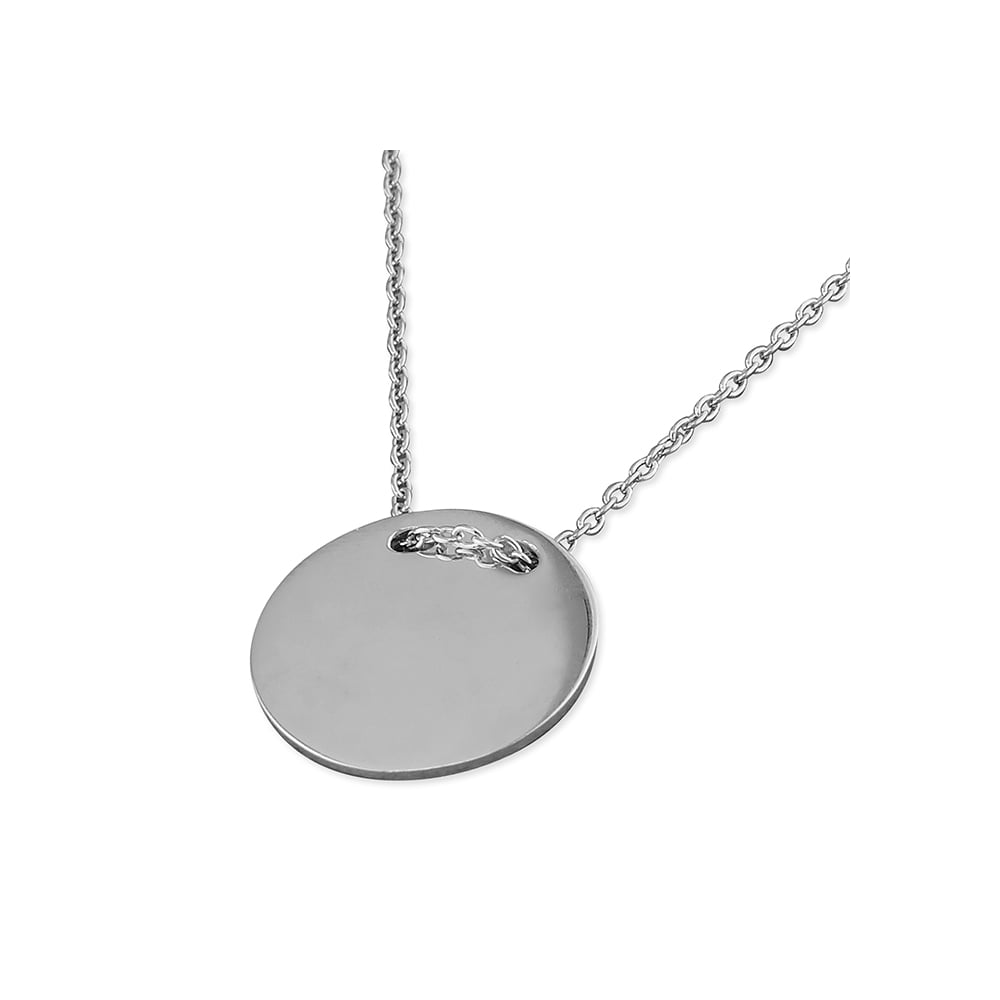 39a6d963a Sterling Silver Thread Through Disc Necklace - Pendants & Necklaces ...