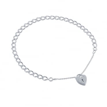 Sterling Silver Traditional Curb Charm Bracelet