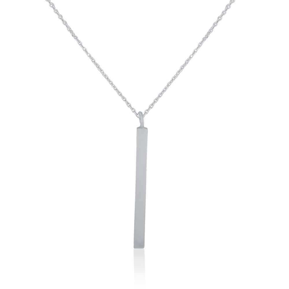 Sterling silver vertical bar necklace pendants necklaces from sterling silver vertical bar necklace aloadofball Images