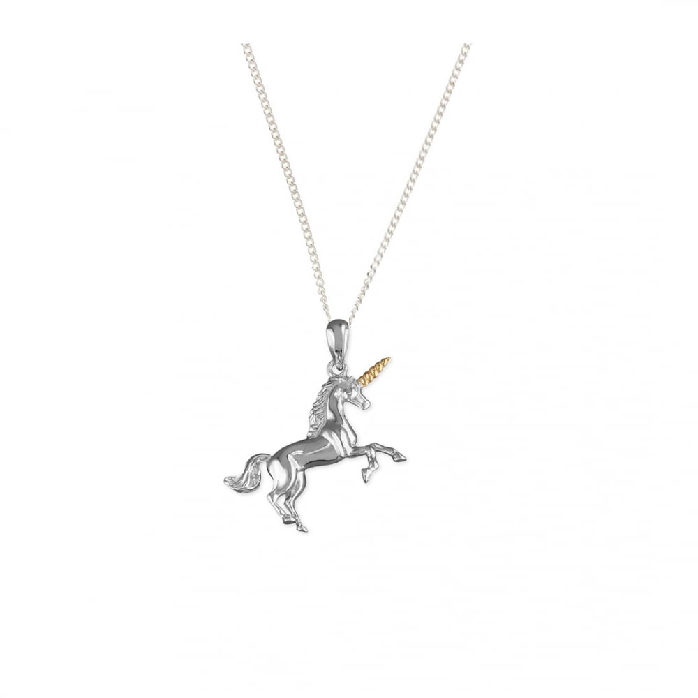 rose jewellery gold lisa pendant necklace unicorn angel