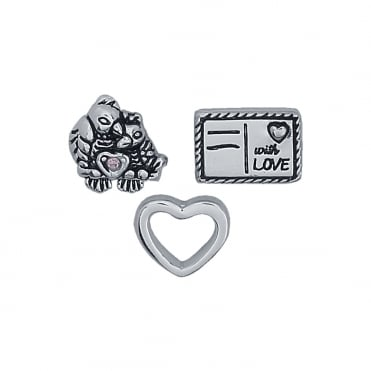 Treasure Charms Love Letters Charm Set