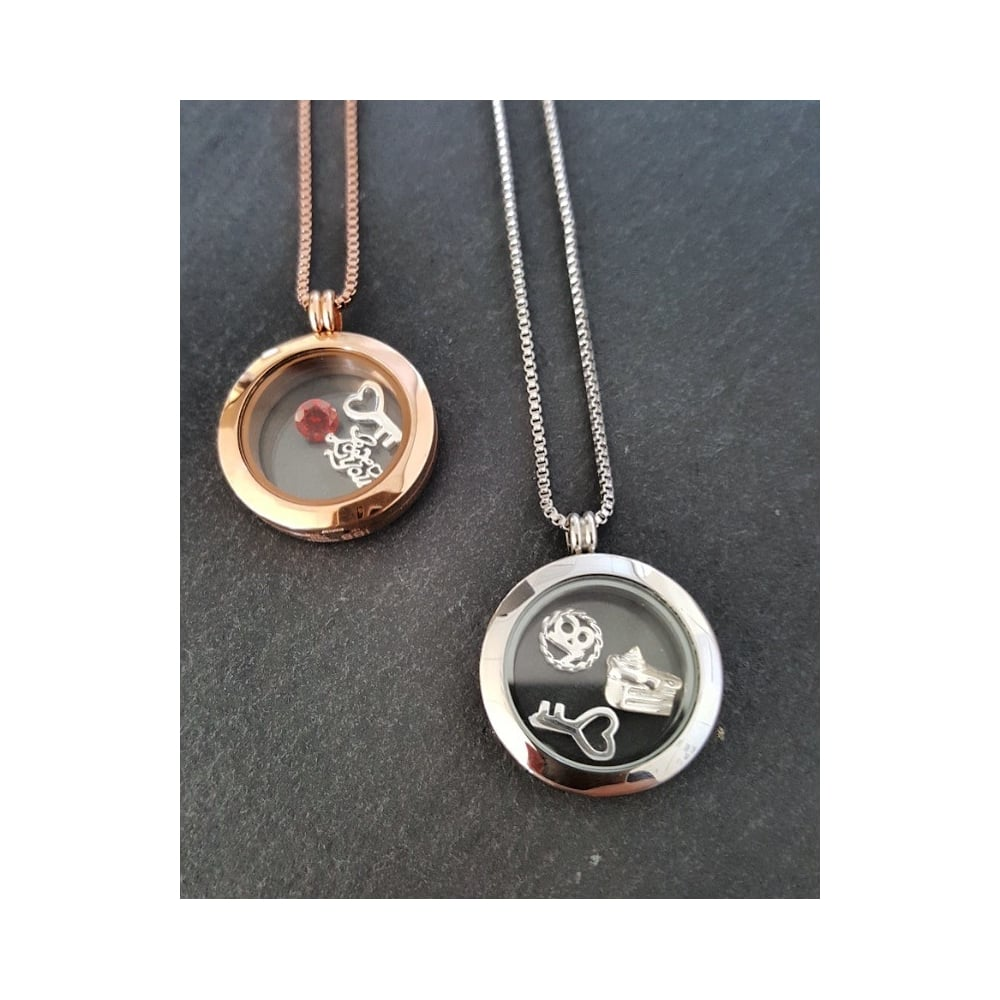 co floating uk round dp necklace lockets locket amazon rose jewellery charmed tone starter