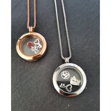 Treasure Lockets Steel Plain Round Treasure Locket